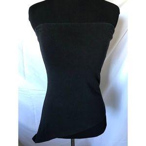 Black sleeveless VS Asymmetrical tube top w/Bra